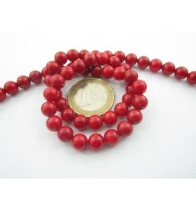 1 filo di perle cabochon in corallo bambù 7,5 mm. 1° scelta lungo 36,5 cm