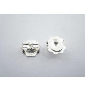 1 coppia farfalline argento...