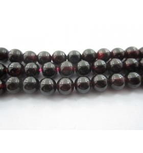 6 pietre in granato cabochon di 6,5 mm qualità almandino