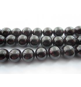 4 pietre in granato cabochon di 8,5 / 9 mm qualità almandino