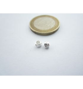 3 componenti in argento 925 di 3,5 x 3 mm foro 2,2 mm made in italy