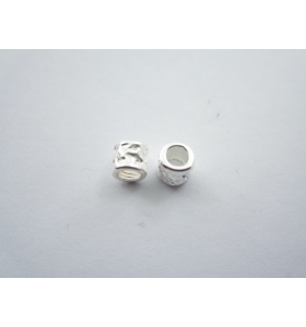 2 componenti in argento 925 di 4,5 x 4,5 mm foro 2,60 mm made in italy