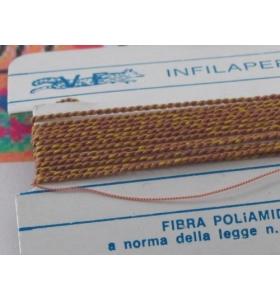1 infila perle professionale color ambra + ago in rame 180 cm n° da 1 a 9