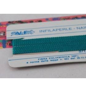 1 infila perle professionale color verde giada + ago in rame 180 cm n° da 1 a 9