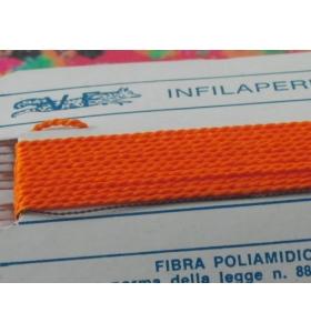 1 infila perle professionale color arancione + ago in rame 180 cm n° da 1 a 9