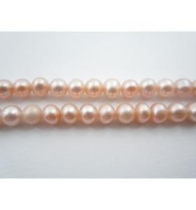 filo perle australiane prima scelta color rosa di 4/4,2 mm leggermente cangiante