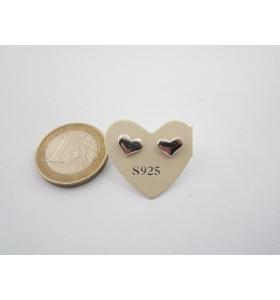1 paio orecchini a lobo cuoricini di 7,5 x 6,5 mm in argento 925 lucido