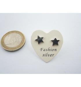 1 paio orecchini a lobo stelline di 8 mm in argento 925 lucido