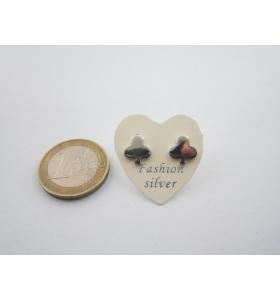 1 paio orecchini a lobo asso di fiori di 9,5 x 9 mm in argento 925 lucido