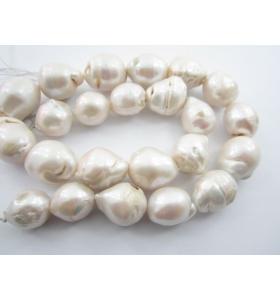 1 filo di 21 perle barocche australiane grezze grandi da 14x13 mm a 18x16 mm
