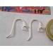 1 paio di ganci x orecchino ad amo semplice frontale pallina argento 925 italy