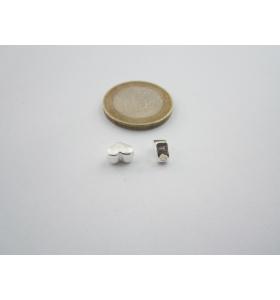2 componenti in argento 925 cuore foro passante di 1,8 mm misure 6 x 5 mm