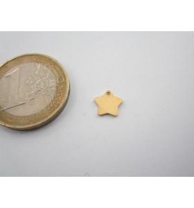 ciondolo charms stellina in argento 925 placcato oro giallo di 7,5 mm italy