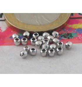 12  PALLINE IN ARGENTO 925 SFACCETTATE MM 3 MADE IN ITALY