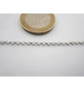 10 cm catena rolò  argento...