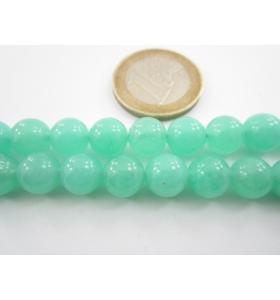 4 pietre in giada acquamarina verde cabochon di 8 mm