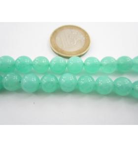 4 pietre in giada acquamarina verde cabochon di 10 mm