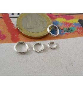 3 doppi anellini aperti brisè di 7 mm in argento925 made in italy