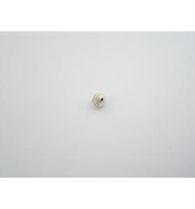 1 pallina leggermente schiacciata in argento 925 graffiato di 10 x 9 mm