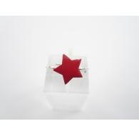 Anello regolabile argento 925 rodiato cuore rosso smaltato di 11 x 10 mm italy