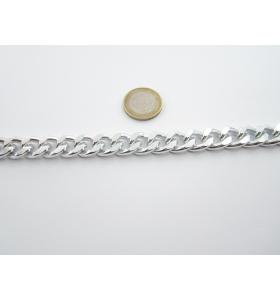 50 cm. catena grumetta alluminio argentato 14x12