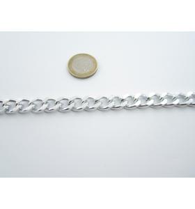 50 cm. catena grumetta alluminio argentato 14x12 mm