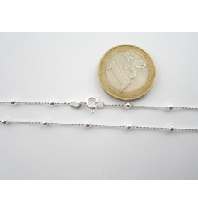 1 catenina argento 925 pallini alternati di 1 e 2,5 mm lunga 50 cm made in italy