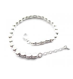 1 bracciale cubetti argento 925 lungo 17,5 cm con prolunga fino a 20,5 cm
