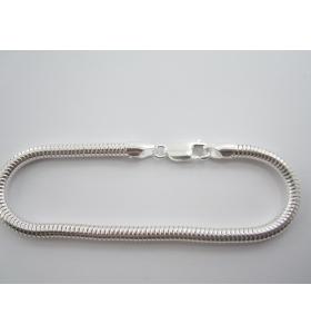 bracciale snake in argento 925 di produzione italiana del diametro di 4 mm