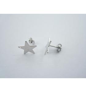 1 paio di basi per orecchini forma stella con foro in  argento 925