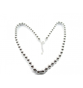 made in italy collana sfere di 8 mm in argento 925 lunga 50 cm