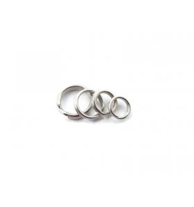 2 doppi anellini brisè 8 mm argento 925 rodiato di