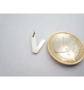 1 ciondolo charms lettera dell'alfabeto V in argento 925 lucido