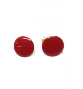 1 paio di basi orecchino smaltato rosso in alluminio rosè