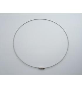 2 girocollo in cavetto acciaio rivestito di 1,1 mm chiusura a vite lungo 46 cm