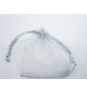 50 sacchetti in organza misure 9 x 7 mm colore grigio chiaro