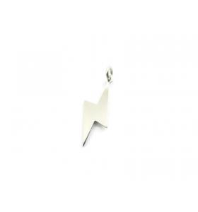 fulmini e saette ciondolo charm in argento 925 rodiato 20x6 mm made in italy