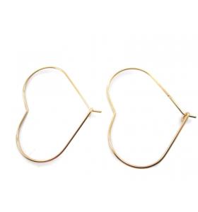 4 monachelle cuore in filo dorato misure 35x30 mm