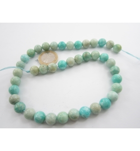 1 filo in amazonite naturale cabochon da 10 mm top quality