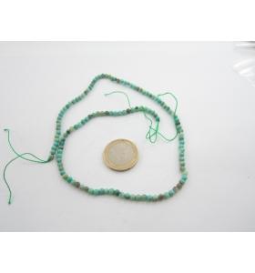 1 filo di crisoprasio cabochon naturale mm. 3,5
