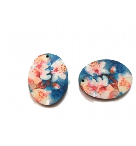 2 basi orecchino in legno serie art fiori 2