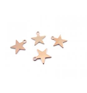 4 ciondoli charms stella ramate diametro 10 mm