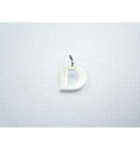 1 ciondolo charms piccola lettera D in argento 925