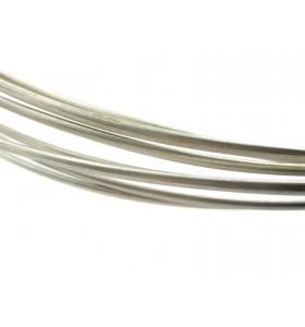 10 cm di filo semitondo in argento 925 cotto (morbido) di 5 x 1 mm italy