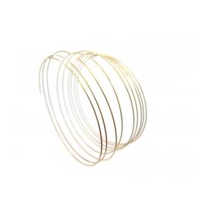 base bracciale in filo armonico memory dorato 10 giri