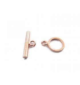 1 chiusura baionetta in argento placcato oro rosa made in italy