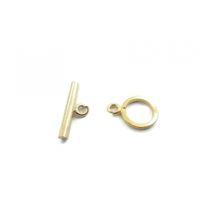 1 chiusura baionetta in argento placcato oro giallo made in italy