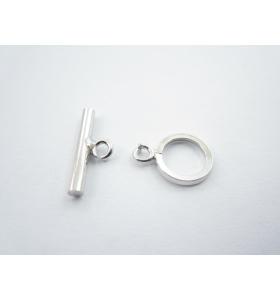 1 chiusura baionetta in argento 925 rodiato made in italy