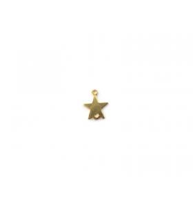 2 connettori doppio  foro  stellina  argento 925 placcato oro giallo misure 10 x 8 mm