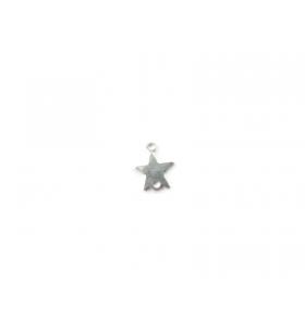 2 connettori doppio  foro  stellina  argento 925 misure 10 x 8 mm